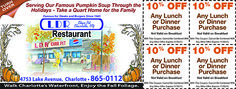 LDR Restaurant Fall savings great coupons!