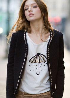 Des Petits Hauts - Paris Fashion Fashion Now, Winter Fashion Outfits, High Fashion, Fashion Ideas, Style Me, Cool Style, Pret A Porter Feminin, T Shirt And Jeans, Casual Fall