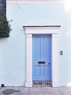 Blue Charleston door.