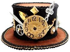 Mini Steampunk Victorian Top Hat And Gears Gear Ring Headband Costume Accessory