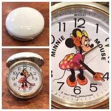 Minnie Mouse moving arms compact alarm clock