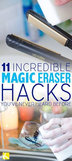 11 Incredible Magic Eraser Hacks You've Never Heard Before - The Krazy Coupon Lady Deep Cleaning Tips, House Cleaning Tips, Cleaning Solutions, Cleaning Hacks, Cleaning Products, Office Cleaning, Cleaning Quotes, Cleaning Recipes, Organizing Tips