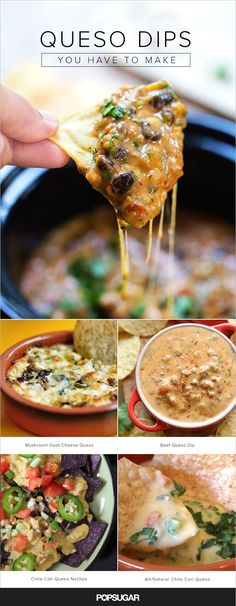 A surefire appetizer at every party, restaurant, and family gathering is chile con queso. You'll want to make all 15 unique takes on the cheese dip. You have all of football season to experiment!