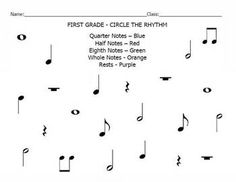 "Circle The Rhythm - Not ""rhythms"", good review of note names"