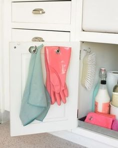 Great idea for under the sink organization