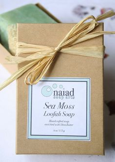 seamoss loofah soap packaged