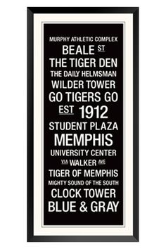 University of Memphis Subway Sign-love it! http://www.replayphotos.com/memphisphotos/campus-art-collection-print/-_937863.cfm