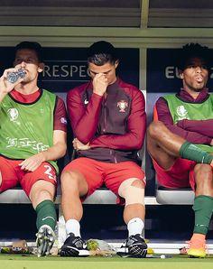 Euro 2016 final France vs Portugal: Cristiano Ronaldo on the bench