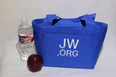 """""""JW.org Lunch Tote"""" ; Embroidered on Etsy, Sold, """"Thestitchandneedle"""". Lunch tote JW.org"""