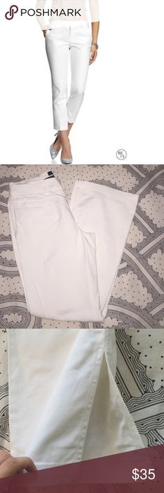 Banana Republic Martin Pants Who says no one can wear white after Labor Day? Freshly washed and barely worn pants that have lots of life left. The sizing is Stretch. I'm open to reasonable offers. Ask me anything! Banana Republic Pants Ankle & Cropped