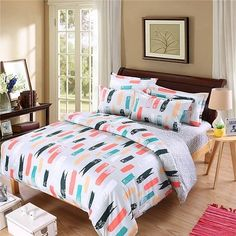 WWW.WINDEHOME.COM WHATSAPP:+86 17682342543 https://api.whatsapp.com/send?phone=8617682342543 EMAIL:kyo.liu@windehome.com  Supplier of quilt cover set, bed sheet set, quilt ,blanket ,bedspread,comforter from China.Various designs, Small MOQ, Good Price, Factory Direct, Quick Respond.  Wholesale 3PCS and4 PCS Cheap Light Weight Reversible Microfiber Duvet Cover Quilt Cover and Bed Sheet Bedding Set with Pillow Sham Factory Direct From China  Composition: 100% Microfiber 82GSM