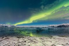 Jökulsarlon lagoon , my first Aurora I was so exited I couldn't even shot! it was unbelievable the colors the dance on the sky. Northern Lights, My Photos, Sky, Nature, Travel, Green, Voyage, Heaven, Aurora