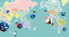 세계 다이빙 & 서핑 포인트