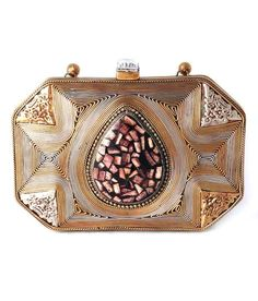Saisha Fcb0049 Brown Clutch