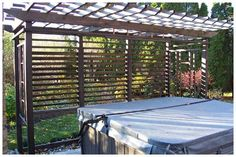 flexfence.com louvered hardware for fences, decks , pergolas, hot tub privacy and so much more! - Photo Gallery