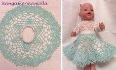 hame nukelle pitsiliinasta Crochet Hats, Dolls, Inspiration, Knitting Hats, Baby Dolls, Biblical Inspiration, Puppet, Doll, Baby