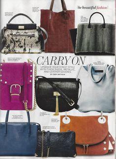 Hammitt - Corey suede handbag in Latina Magazine b498e89ce0541