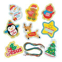 Faith Christmas Lacing Cards - OrientalTrading.com