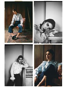 Blue blouse - Patricia Manfield Edit - Uterqüe España #PhotoshootIdeas