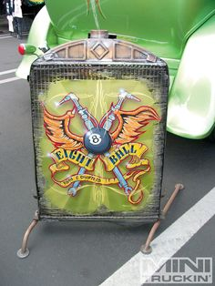 Steve Vandemon and the Eight Ball Rods & Choppers Radiator art