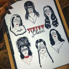 Tattoo morticia wednesday elvira vampira lily lydia creepy quero
