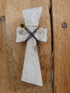small wooden cross by jackrabbitflats on Etsy, $5.00