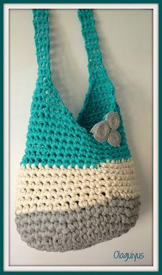 New Crochet Bolsos Patrones Ideas Bag Crochet, Crochet Handbags, Crochet Purses, Love Crochet, Crochet Crafts, Crochet Hooks, Crochet Projects, Crochet Baby, Crochet Birds