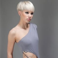 L'Oreal Inspiration – The World Short Bob Haircuts, Cute Hairstyles For Short Hair, Pixie Hairstyles, Pixie Haircut, Short White Hair, Short Hair Cuts, Short Hair Styles, New Hair Do, Great Hair