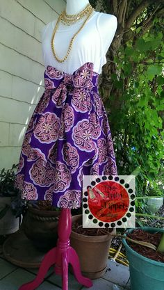 African Print Midi Skirt by RubySlippersOnline on Etsy