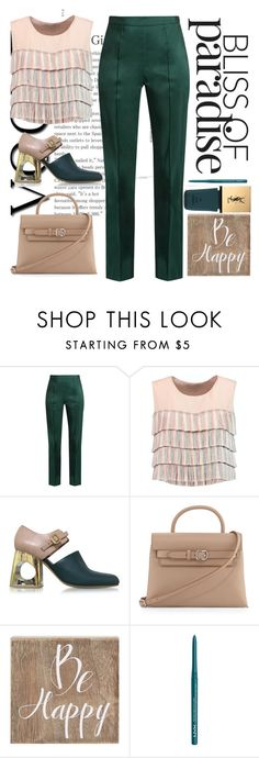 """""""Untitled #73"""" by tisshik ❤ liked on Polyvore featuring Rosie Assoulin, Alexis, Marni, Alexander Wang, Belle Maison, NYX and Yves Saint Laurent"""