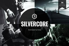 Silvercore B&W Photoshop Actions by RockShutter on @creativemarket Add a touch of vintage mystery and style to your photos with stunning black and white effects. Silvercore is perfect for modeled portraits or city scenery - wherever you need to capture the essence of light and dark to evoke thought and emotion in a pure way.