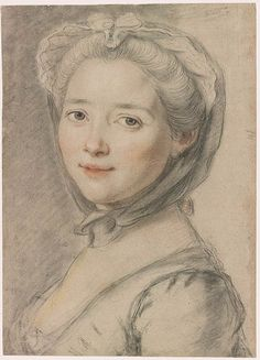 Anne-Marie-Francoise Dore, the artist's wife, mid 18th century by François Hubert Drouais (1727-1775) (The Morgan)