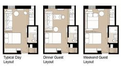 Apartment Studio Layout Floor Plans Small Spaces 32 Ideas For 2019 Small Apartment Layout, Apartment Furniture Layout, One Room Apartment, Studio Apartment Layout, Small Studio Apartments, Studio Layout, Apartment Floor Plans, Studio Apartment Decorating, Cool Apartments