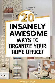Its hard to keep a home office organized but these home office organization ideas will help you get an organized office easy and fast With these carefully selected organization ideas having an organized workplace is a childs play and w