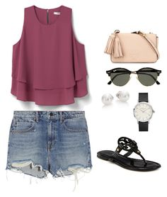 """""""early summer"""" by griffinkite on Polyvore featuring MANGO, Alexander Wang, Tory Burch, Ray-Ban and Mikimoto"""