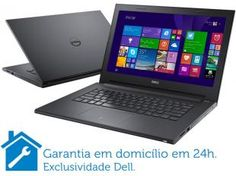 Notebook Dell Inspiron I14-3442-A40 Intel Core i5 - 8GB 1TB Windows 8.1 LED 14 HDMI Placa de Vídeo 2GB