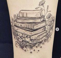 105 Book Tattoos For the Ultimate Reader : Book Tattoo Ideas Tribal Tattoos, Tattoos Mandala, Tattoos Skull, Body Art Tattoos, New Tattoos, Sleeve Tattoos, Tatoos, Tattoo Sleeves, Triangle Tattoos