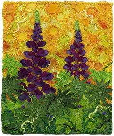 Created by Kirsten Chursinoff  Embroidered landscape by http://kirstensfabricart.blogspot.com/ - simply beautiful!