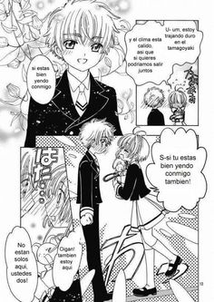 Sakura y Shaoran Momento romántico.