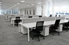 NEW CALL CENTRE BENCH DESKS IN WHITE -  60 AVAILABLE