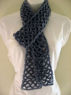 This scarf was deceptively easy and a pretty quick stitch.  I used an ombre yarn, so the color change was really pretty, but it distracted from the pattern some.