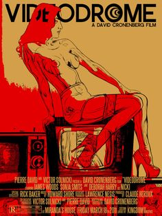 "MP365. ""Videodrome"" Alternate Movie Poster by Jay Shaw aka Iron Jaiden (David Cronenberg 1983) / #Movieposter"