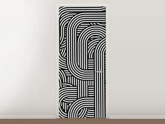 Tür #Tapete 3D Black & White