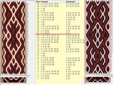Enhebrados opuestos // 20 tarjetas, 3 colores, repite cada 20 movimientos // sed_995&sed_995a diseñado en GTT༺❁