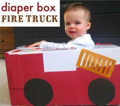 Diaper Box Fire Truck