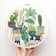 Beautiful cactus embroidery