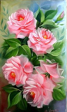 ZOOYA DIY Diamond Painting flower pink rose Diamond embroidery Cross Stitch full square diamond mosaic home decoration MX Fabric Paint Designs, Arte Floral, Fabric Painting, Beautiful Roses, Vintage Flowers, Flower Art, Peony Flower, Wallpaper Backgrounds, Illustrations