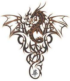 Grand Dragon Chinois Tattoo