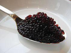 Blueberry Pearls - molecular gastronomy