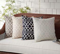 Sunbrella® Griffin Indoor/Outdoor Pillow #potterybarn